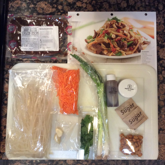 Pad Thai Ingredients from Home Chef