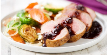 Home Chefs Fig-Glazed Pork Tenderloin